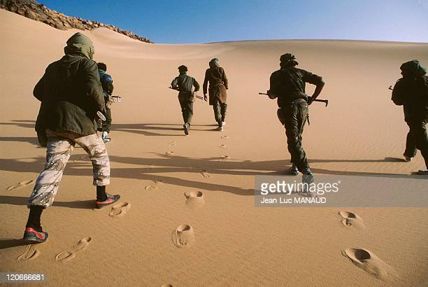 Training of fighters of FLAA Touareg guerilla in Niger