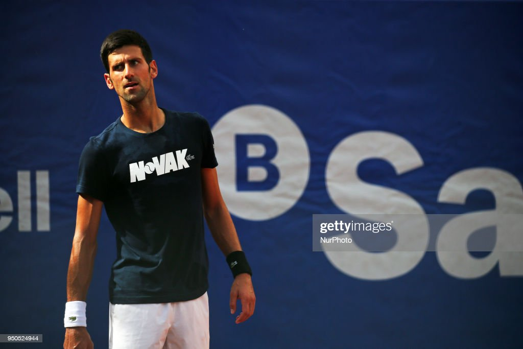 Training of Novak Djokovic from Serbia during first day of the Barcelona Open Banc Sabadell, on 23th April 2018 in Barcelona, Spain.