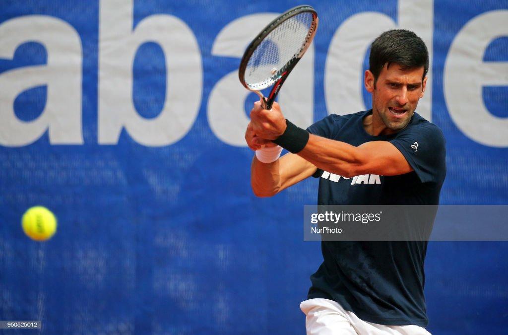 Novak Djokovic training : News Photo