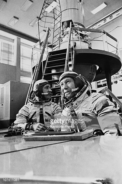 Training Of The Russian Cosmonauts Valeri Kubasov And Alexey Leonov On The Seventies
