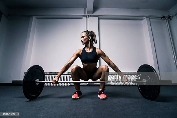 training - female bodybuilder stock photos and pictures