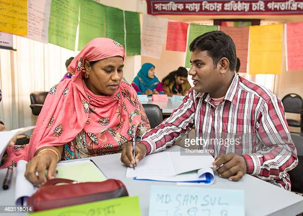 Training program for trade unionists at the Bangladesh Institute of Labor Studies BILS on December 09 2014 in Dhaka Bangladesh The BILS is a NGO that...