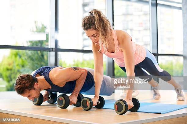 training push ups - circuit training stock photos and pictures