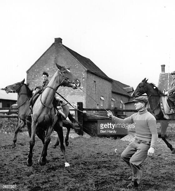 Training racehorses for the Grand National at Kenneth Tindell's stables at Compton Berkshire Original Publication Picture Post 4996 Grand National...