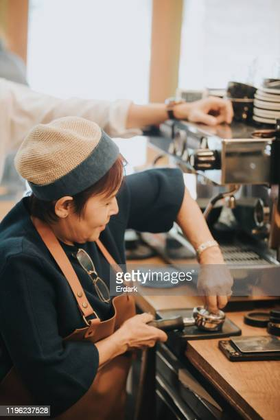 training to part time barista at the cafe - thailand stock pictures, royalty-free photos & images