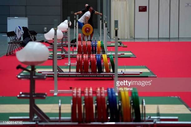 Training venue is seen inside the Tokyo International Forum on day two of the Ready Steady Tokyo - Weightlifting, Tokyo 2020 Olympic Games test event...