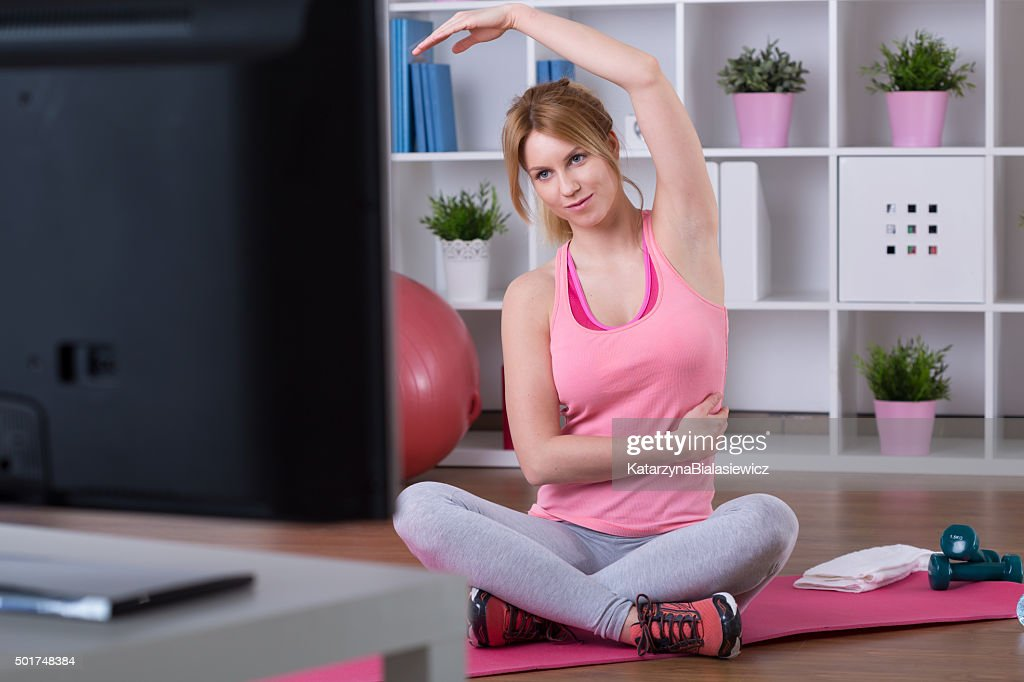 Training with television : Stock Photo