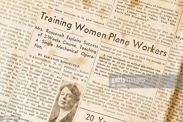 Training Women Plane Workers - Eleanor Roosevelt WWII