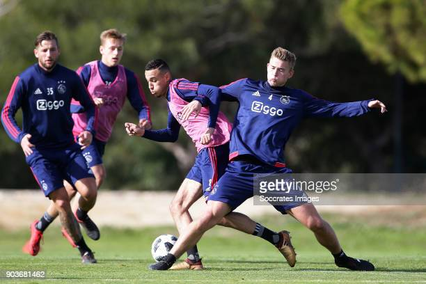 Trainingskamp Ajax Lagos Noa Lang of Ajax Matthijs de Ligt of Ajax during the match between Training Camp Ajax in Portugal on January 10 2018 in...