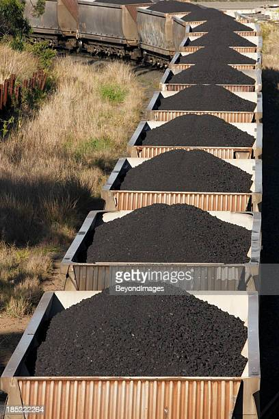 Trainload of black coal heads to port