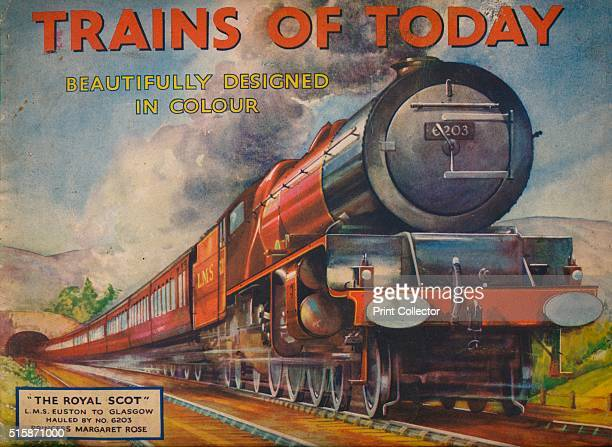'Trains of Today The Royal Scot LMS Euston to Glasgow hauled by No 6203 Princess Maragaret Rose 1940 From Trains of Today [Juvenile Productions Ltd...