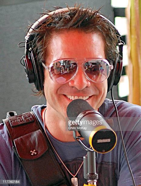 Train's Pat Monahan is interviewed on Star 94 during Starfest 2006 Concert Atlanta GA July 22 2006 at Atlantic Station in Atlanta Georgia United...