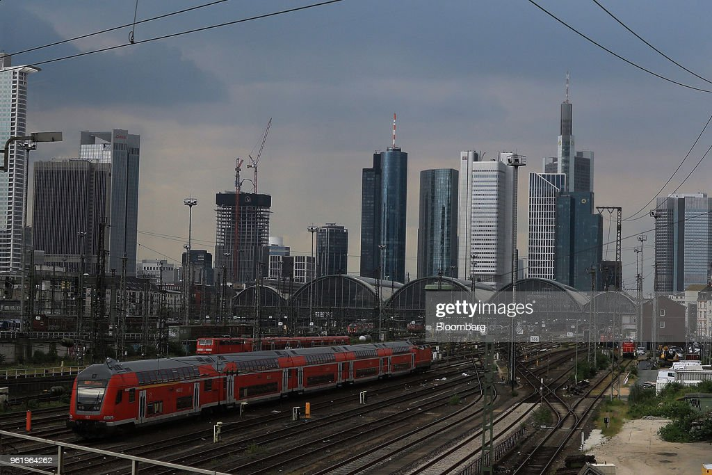 Frankfurt's Financial District As City's Banking Industry Anticipates 8,000 Additional Jobs Following Brexit