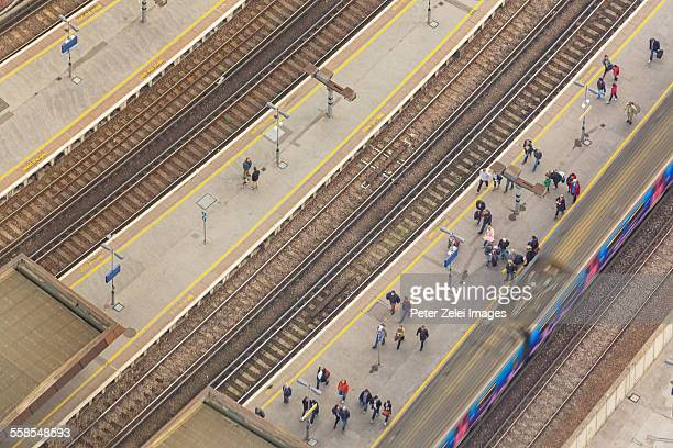 Train-station in London - aerial view