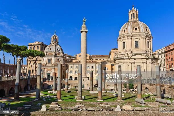 Trajan's Column and Forum, Forum area, Rome, Lazio, Italy, Europe