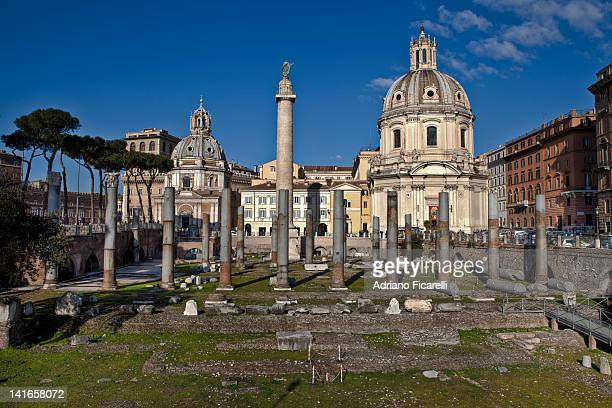 trajan's forum - adriano ficarelli stock pictures, royalty-free photos & images