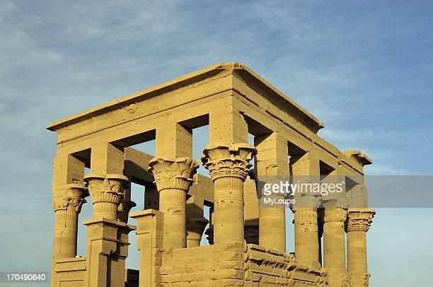 Trajan's Kiosk at Temple of Isis on Philae Island Lake Nasser near Aswan Egypt