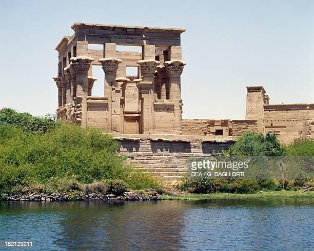 Trajan's Kiosk Philae Temple Complex Agilika Island originally located on the island of Philae Egyptian Civilisation Roman Empire