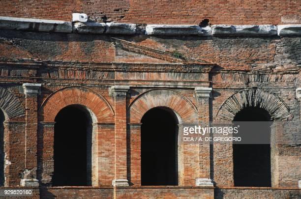 Trajan's Markets detail Trajan's Forum Historic Centre of Rome Lazio Italy Roman civilisation 1st century AD