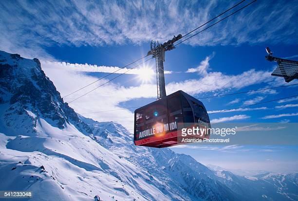 Tram at Aiguille du Midi