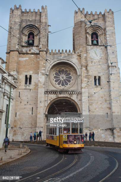 Tram at Lisbon Cathedral