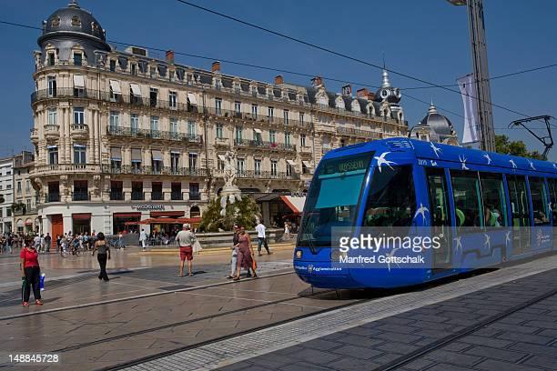 Tram at Place de la Comedie.