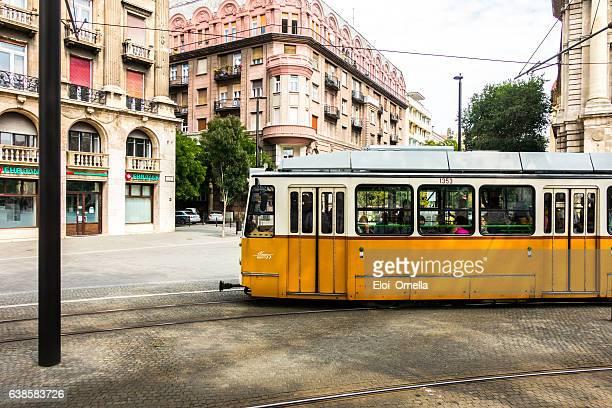 tram budapest Kossuth Lajos Square hungary day