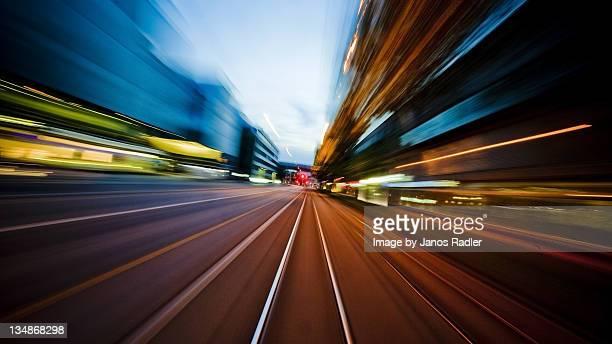Tram drive through Zurich