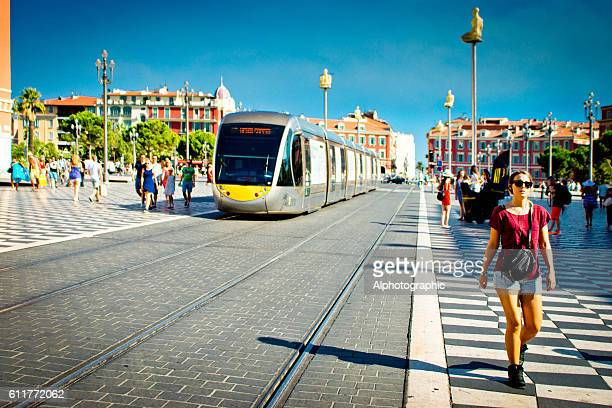 Tram in Nice Place Massena