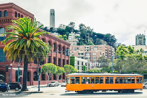 Tram In San Francisco, At The Embarcadero Avenue