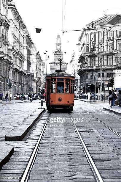 Straßenbahn In der Innenstadt von Mailand
