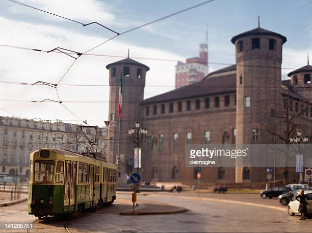 tram in turin, italy - turin stock pictures, royalty-free photos & images