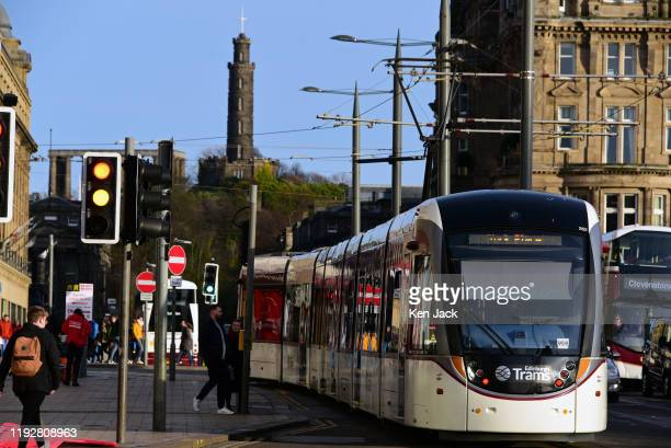 Tram on Princes Street, as City Council leaders set out their vision for transport planning over the next ten years, on January 10, 2020 in...