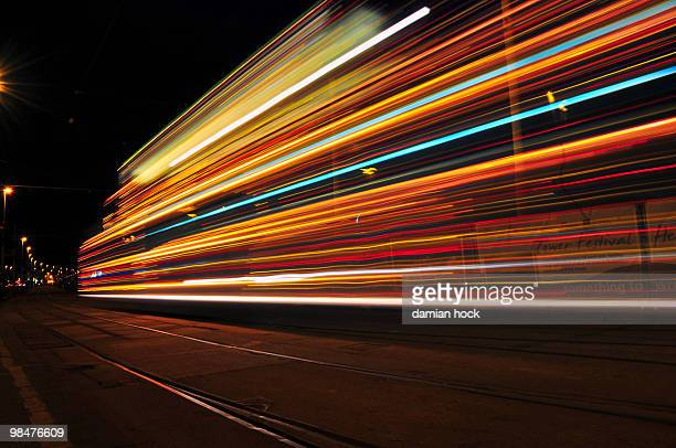 tram - long exposure stock pictures, royalty-free photos & images