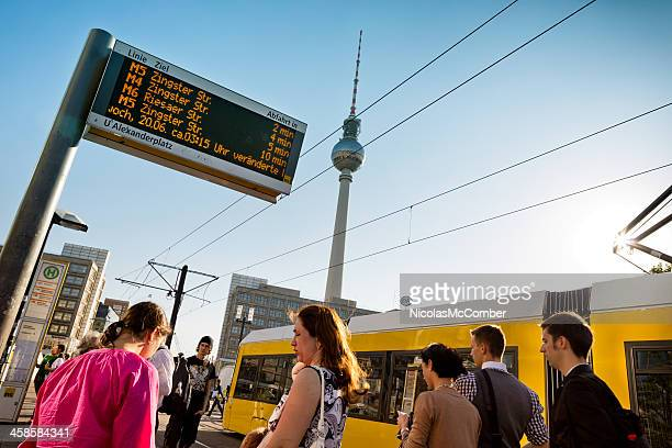Tram stop at Alexanderplatz Berlin