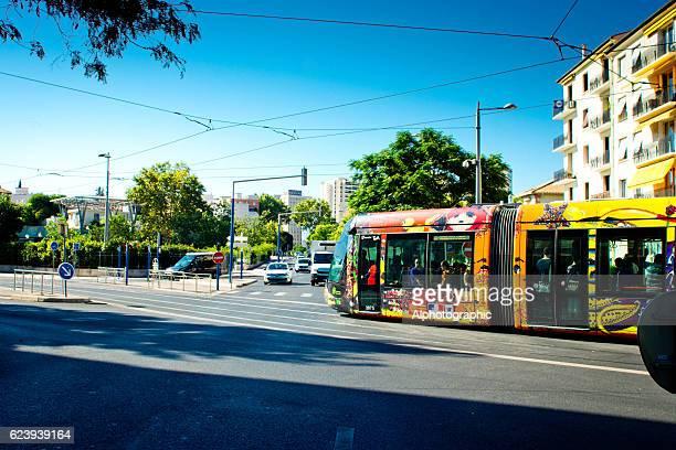 Tram stopped Montpellier