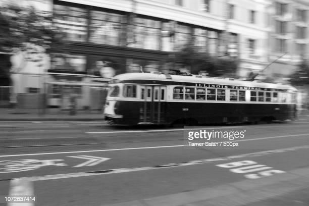 tram_bw.jpg - salah stock photos and pictures