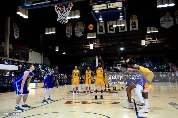 Tramaine Isabell of the Drexel Dragons seals the game with free throws against the Delaware Fightin Blue Hens during the second half at the...