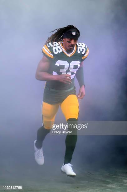 Tramon Williams of the Green Bay Packers takes the field prior to a game against the Washington Redskins at Lambeau Field on December 08 2019 in...