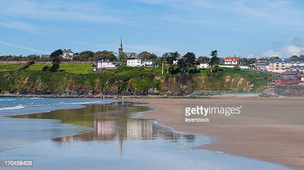 tramore strand and town co. waterford - county waterford ireland stock pictures, royalty-free photos & images
