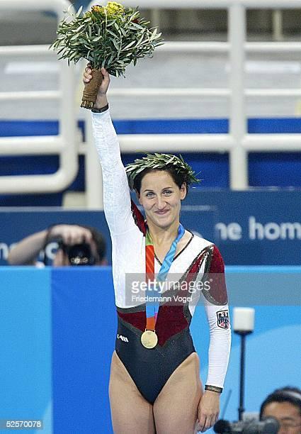 Trampolin Olympische Spiele Athen 2004 Athen Frauen Anna DOGONADZE / GER Gold / Sieger 200804