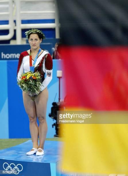 Trampolin Olympische Spiele Athen 2004 Athen Frauen / Finale Anna DOGONADZE / GER Gold / Sieger 200804