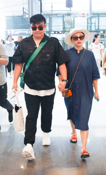 CHN: He Wenna And Liang Chao Sightings In Shanghai