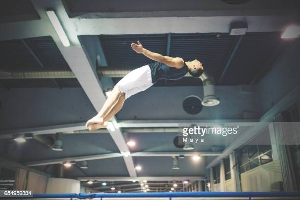 Trampoline-training