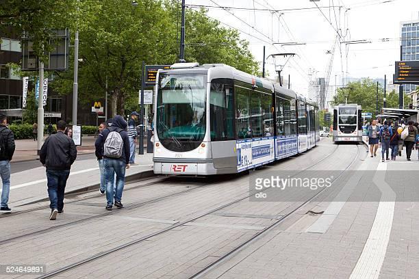 tramstation beurs, rotterdam, the netherlands - rotterdam stockfoto's en -beelden