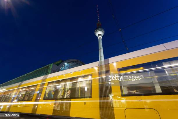 Tramway at Alexanderplatz (Berlin, Germany)