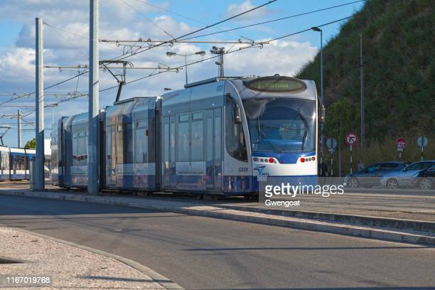tramway in almada - gwengoat stock pictures, royalty-free photos & images