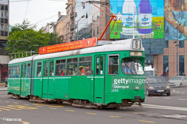 tramway in belgrade - gwengoat stock pictures, royalty-free photos & images