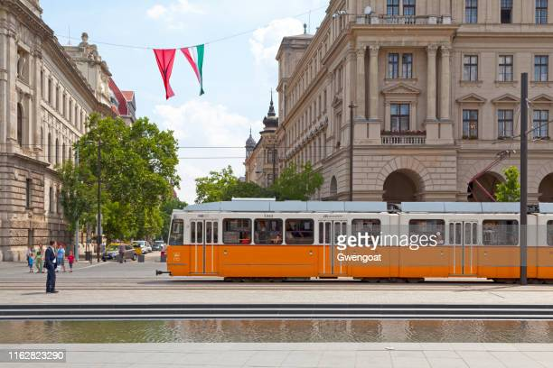 tramway in budapest - gwengoat stock pictures, royalty-free photos & images