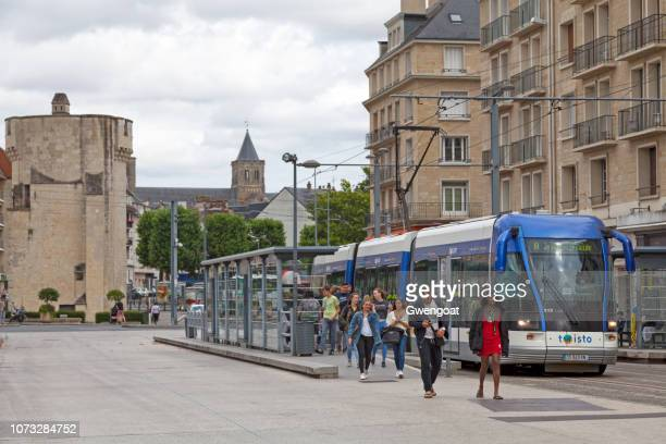 tramway in caen - calvados stock pictures, royalty-free photos & images